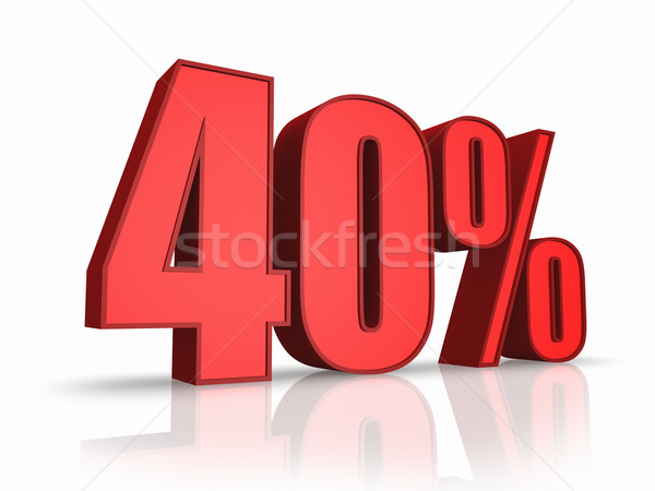 Stock photo: Red Forty Percent