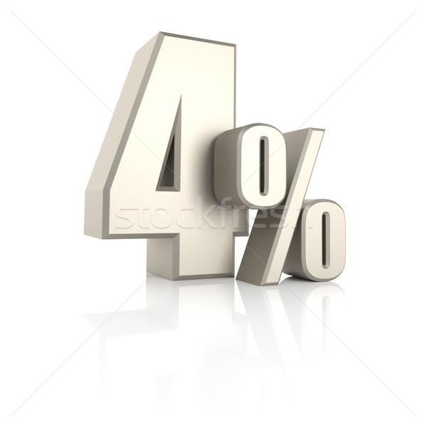 Procent geïsoleerd witte 3d render achtergrond verkoop Stockfoto © ThreeArt