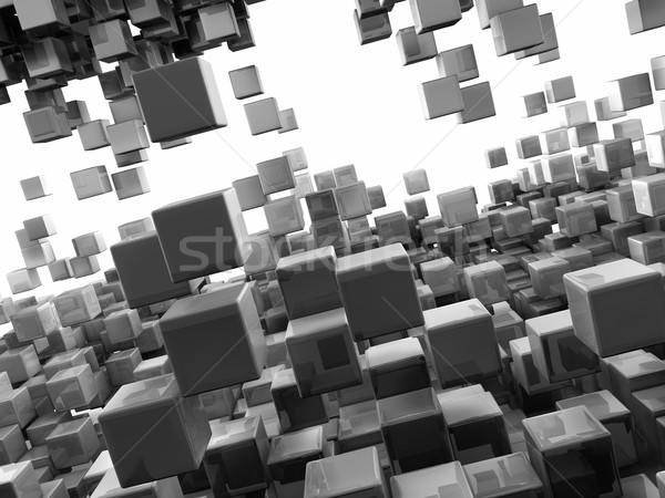 Abstract vlucht vliegen menigte Stockfoto © ThreeArt