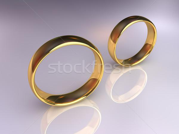 обручальными кольцами отдельно два вместе отдельно Сток-фото © ThreeArt