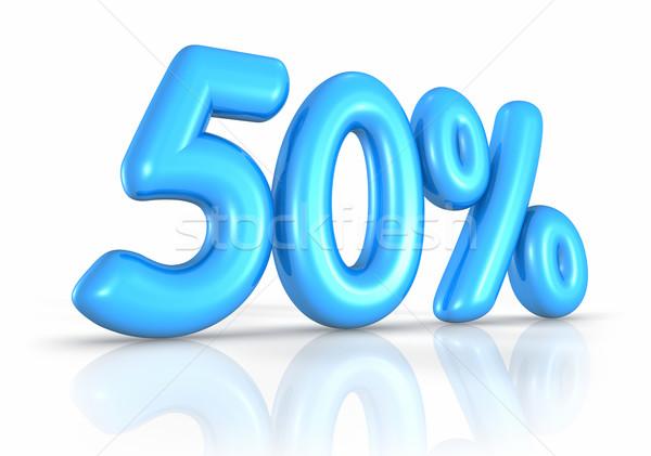 Ballon vijftig procent geïsoleerd witte 50 Stockfoto © ThreeArt