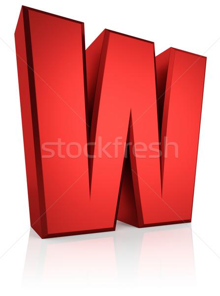 3D list w czerwony odizolowany biały Zdjęcia stock © ThreeArt