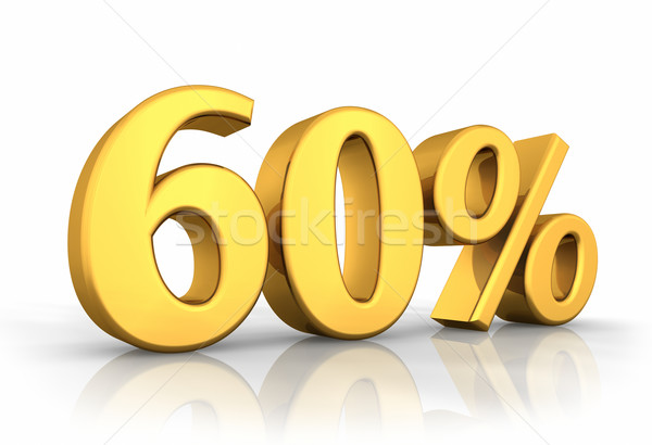 Gold Sixty Percent Stock photo © ThreeArt