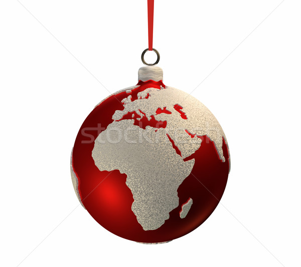 Christmas Bulb With Continents - Europe and Africa Stock photo © ThreeArt