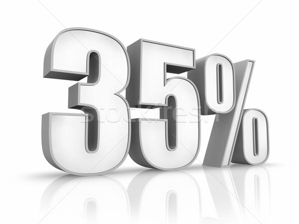 Witte dertig vijf procent geïsoleerd financieren Stockfoto © ThreeArt