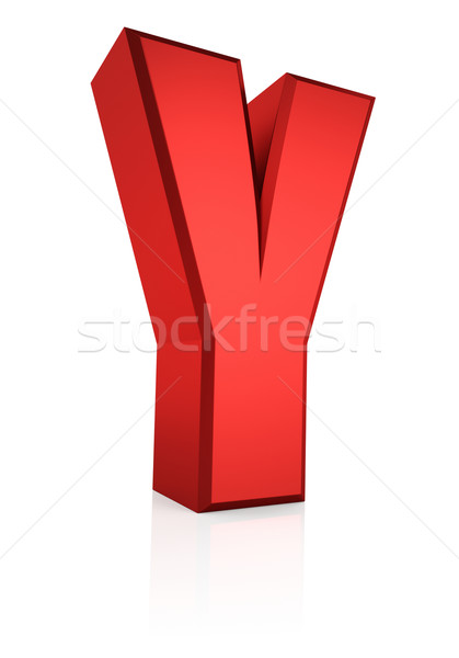 3D mektup kırmızı yalıtılmış beyaz Stok fotoğraf © ThreeArt