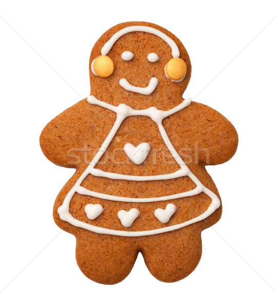 Gingerbread Woman Isolated on White Background  Stock photo © ThreeArt
