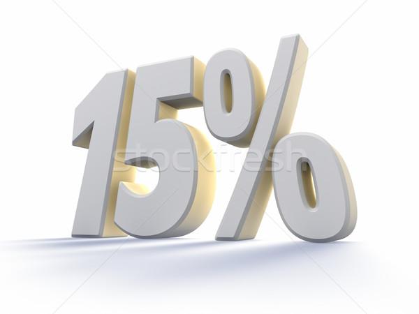 Tizenöt százalék nagy fehér szám izolált Stock fotó © ThreeArt