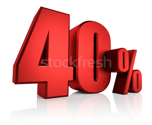 Stock photo: Red 40 Percent