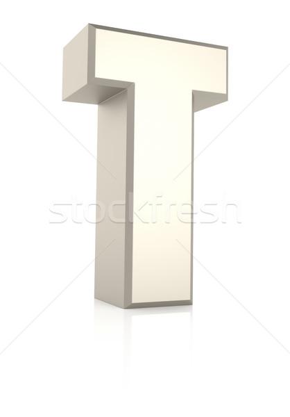 T betű izolált fehér 3d render iskola háttér Stock fotó © ThreeArt