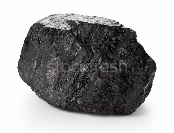 石炭 孤立した 白 テクスチャ 黒 ストックフォト © ThreeArt