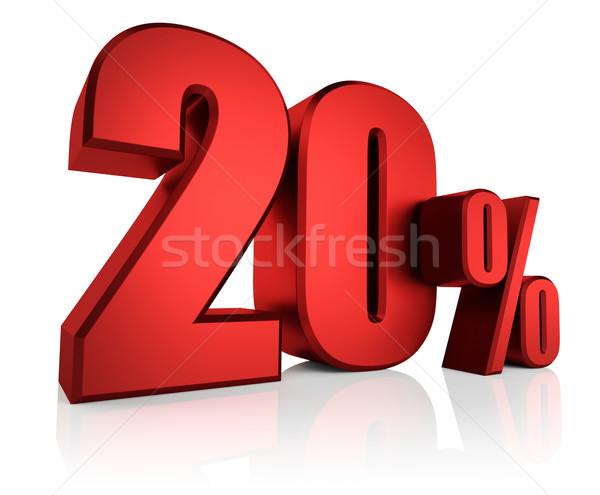 красный 20 процент 3D письма Сток-фото © ThreeArt