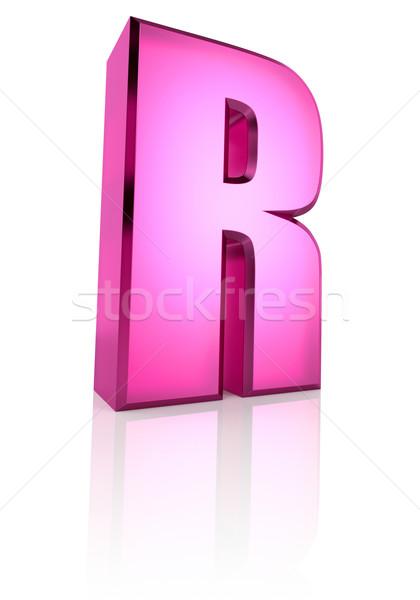 Pink Letter R Stock photo © ThreeArt