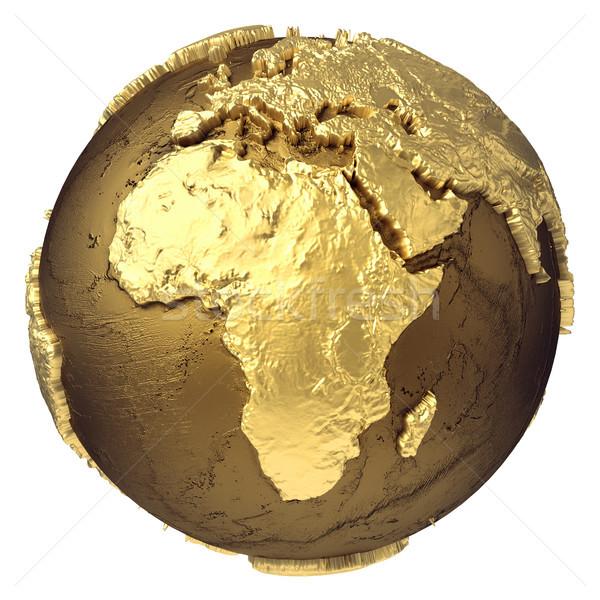 Gold Globe Africa Stock photo © ThreeArt
