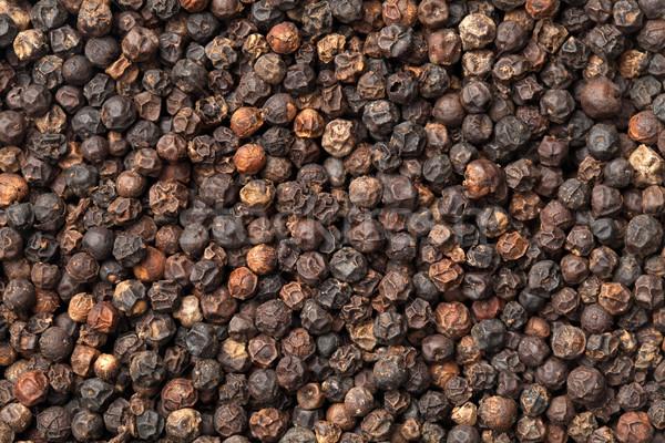 Siyah biber tanesi üst görmek gıda pişirme Stok fotoğraf © ThreeArt