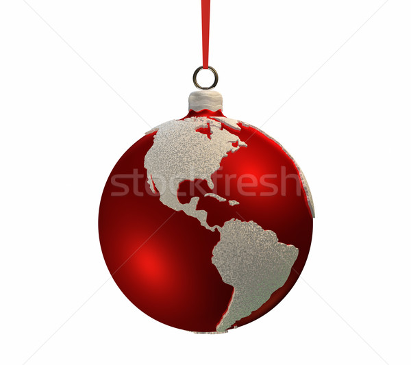 Christmas Bulb With Continents - Americas Stock photo © ThreeArt