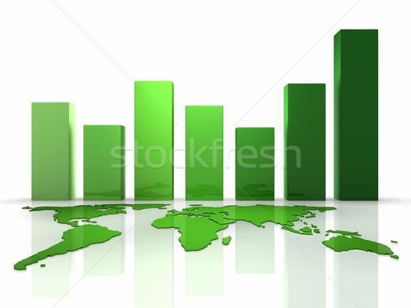 3D Business Green Chart Stock photo © ThreeArt