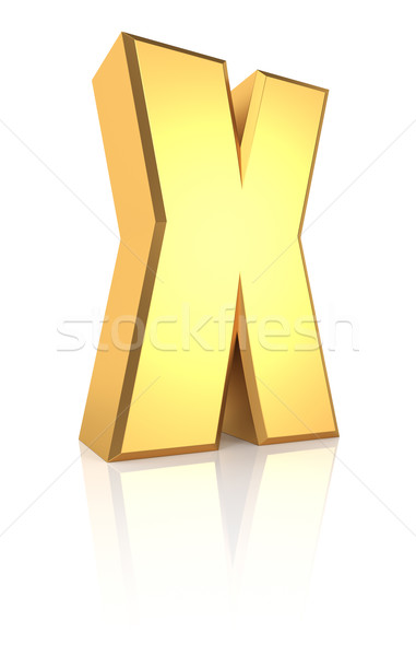 3d Letter X Stock photo © ThreeArt