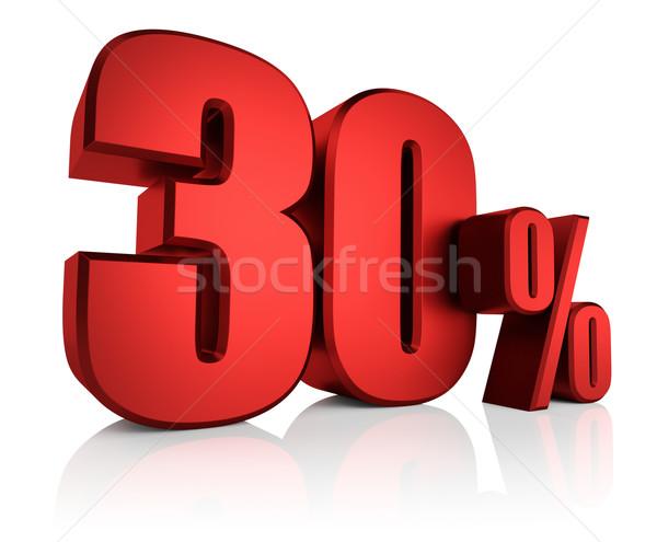 Czerwony 30 procent 3D litery Zdjęcia stock © ThreeArt