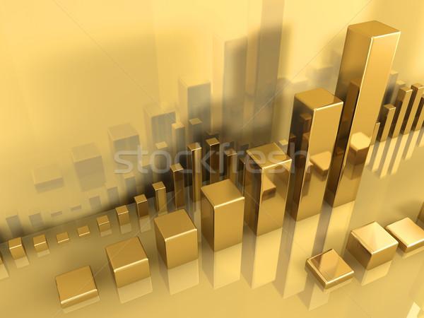 Gold Chart Stock photo © ThreeArt