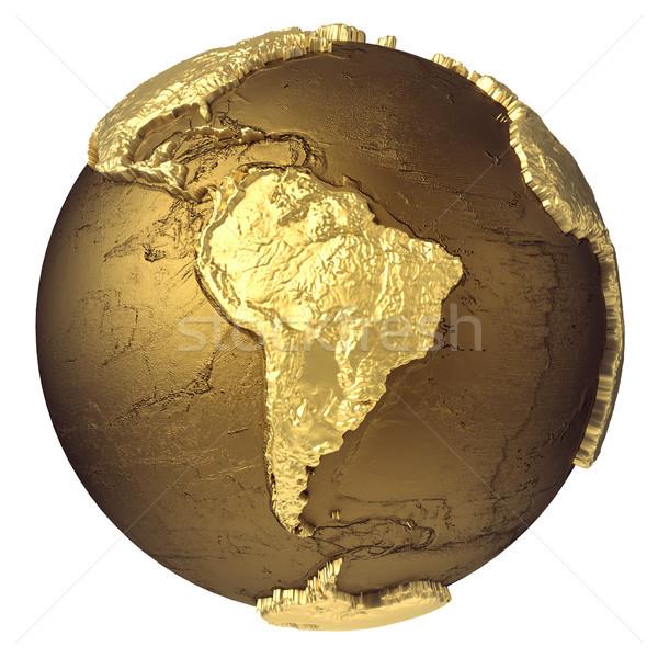 золото мира Южной Америке модель воды Сток-фото © ThreeArt