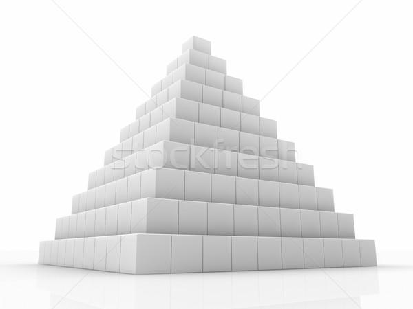 Stockfoto: Piramide · klein · 3D · abstract · geven