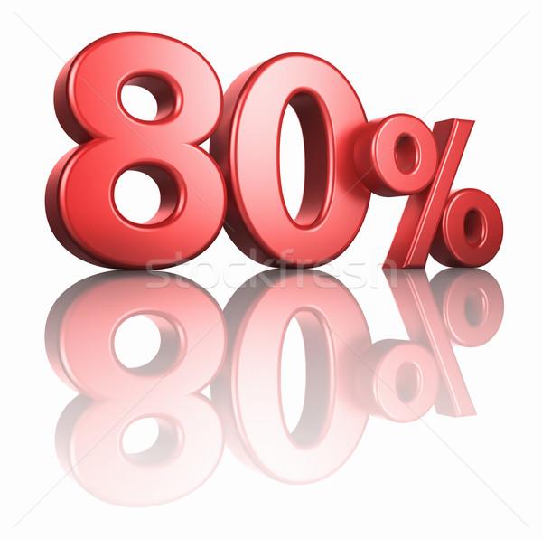 Glossy Red Eighty Percent Stock photo © ThreeArt