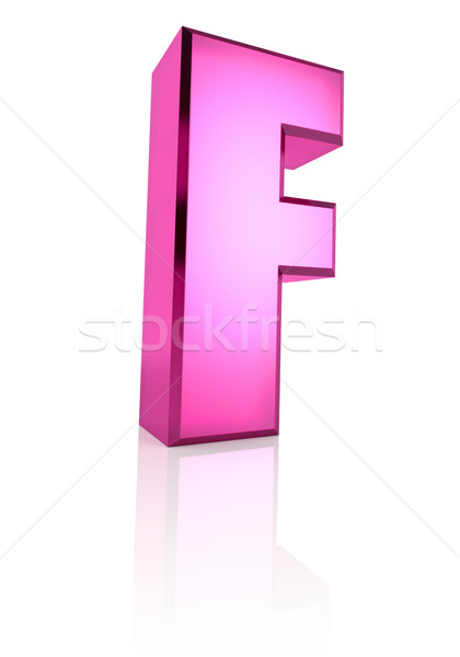 Pink Letter F Stock photo © ThreeArt