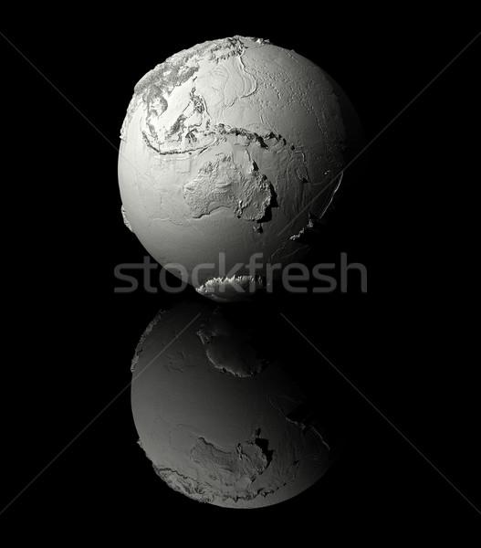 Stockfoto: Witte · wereldbol · Australië · realistisch · model · aarde