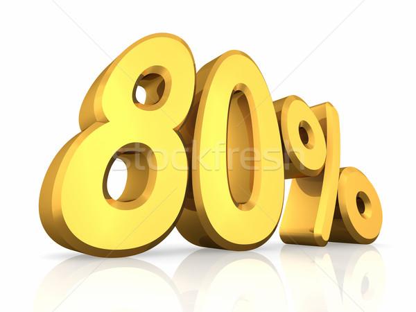 Gold Eighty Percent Stock photo © ThreeArt