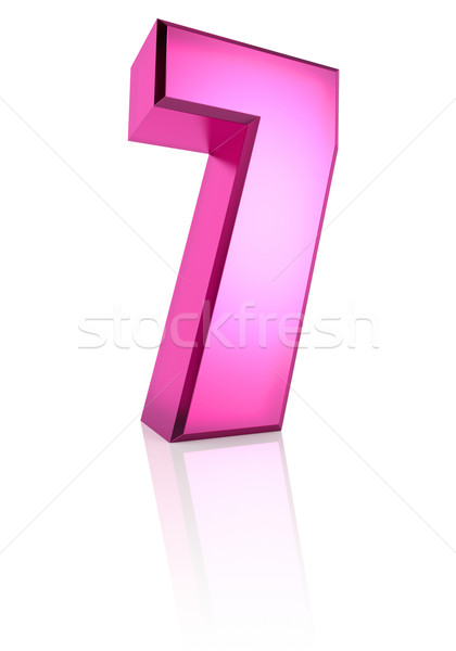 Pink Number 7 Stock photo © ThreeArt