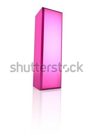 Roze letter i geïsoleerd witte 3D Stockfoto © ThreeArt