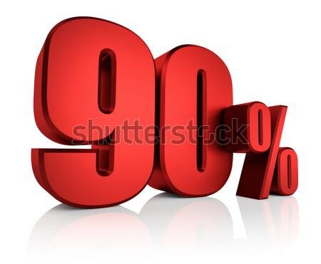 赤 60 パーセント 白 3dのレンダリング 割引 ストックフォト © ThreeArt