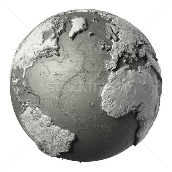 3D földgömb óceán modell részletes topográfia Stock fotó © ThreeArt