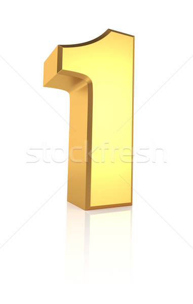 3d Number 1 Stock photo © ThreeArt