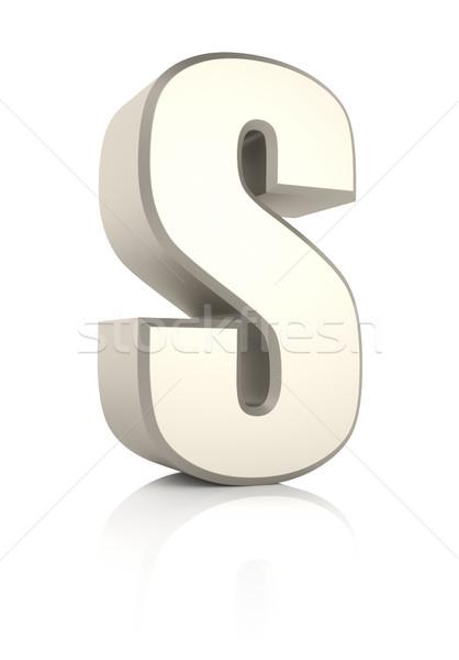 Mektup yalıtılmış beyaz 3d render okul arka plan Stok fotoğraf © ThreeArt