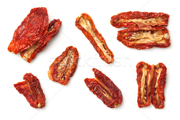 Dried Tomatoes Isolated on White Background Stock photo © ThreeArt