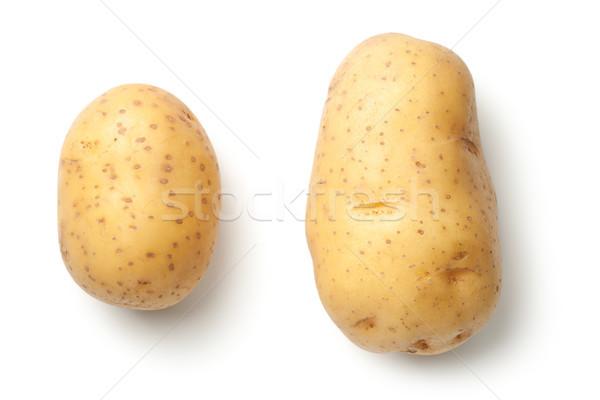 Krumpli izolált fehér felső kilátás étel Stock fotó © ThreeArt