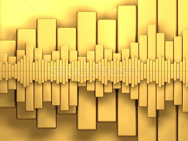 Dourado diagramas variedade abstrato 3d render negócio Foto stock © ThreeArt