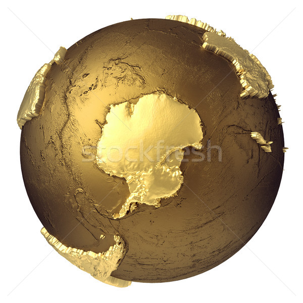 Gold Globe Antarctica