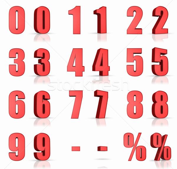 Red Numbers Stock photo © ThreeArt