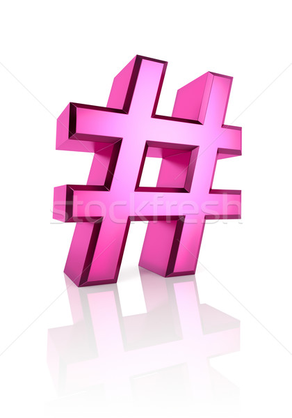 Pink Hash Symbol Stock photo © ThreeArt