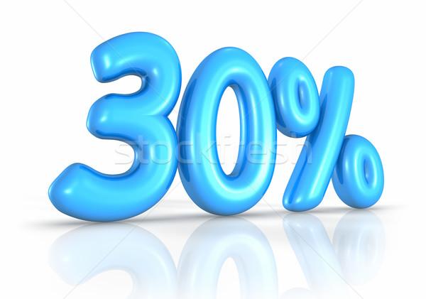 Stock fotó: Léggömb · harminc · százalék · izolált · fehér · 30