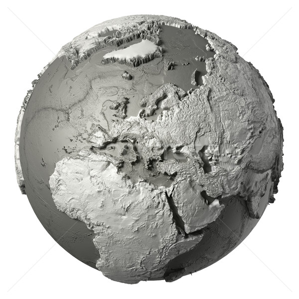 3D dünya Avrupa model ayrıntılı topografya Stok fotoğraf © ThreeArt
