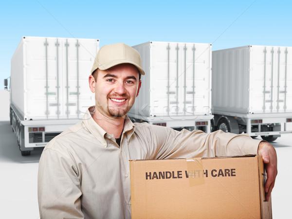 worker with box Stock photo © tiero