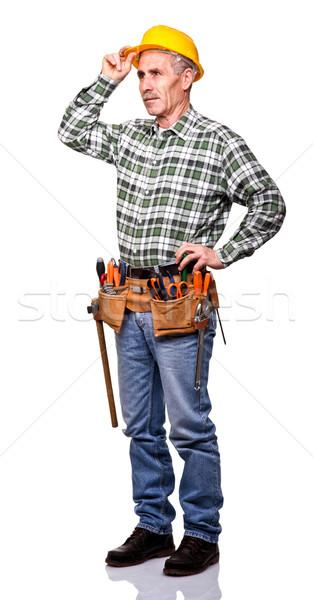 confident carpenter Stock photo © tiero