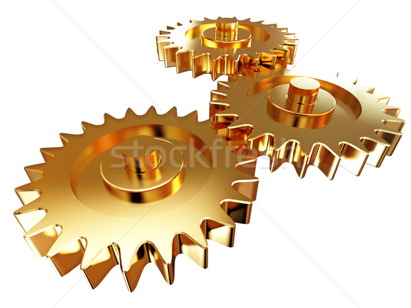 gold gear Stock photo © tiero