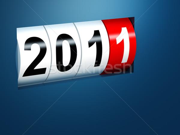 2011 capodanno 3D immagine design sfondo Foto d'archivio © tiero