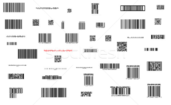 barcode collection Stock photo © tiero
