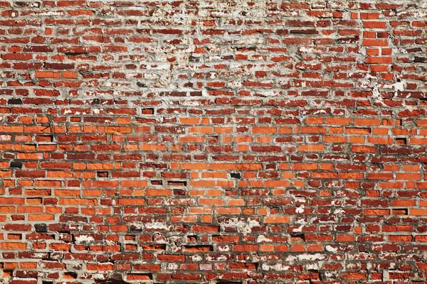 кирпичная стена подробность древних текстуры стены кирпичных Сток-фото © tiero